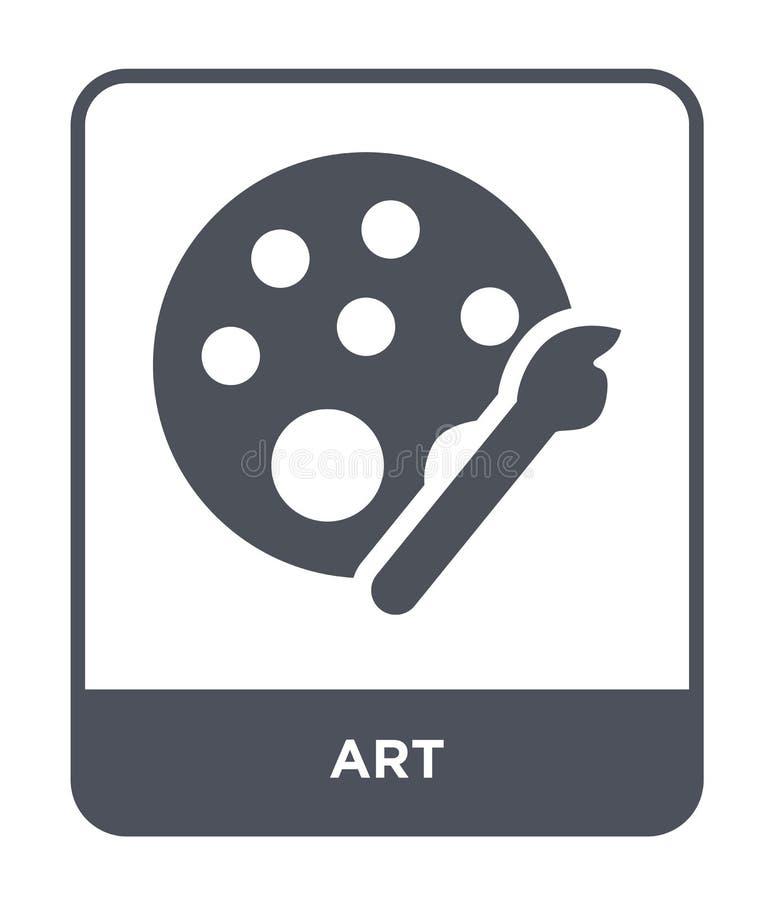 icône d'art dans le style à la mode de conception icône d'art d'isolement sur le fond blanc symbole plat simple et moderne d'icôn illustration stock