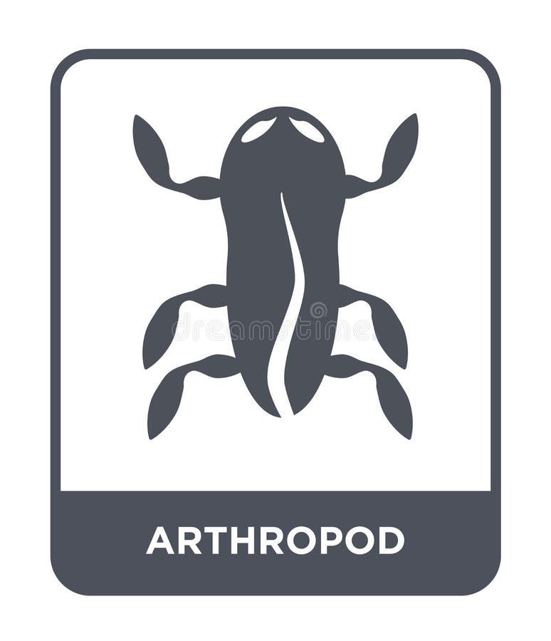 icône d'arthropode dans le style à la mode de conception icône d'arthropode d'isolement sur le fond blanc appartement simple et m illustration stock