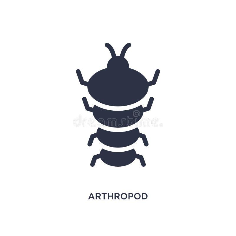 icône d'arthropode sur le fond blanc Illustration simple d'élément de concept d'âge de pierre illustration libre de droits