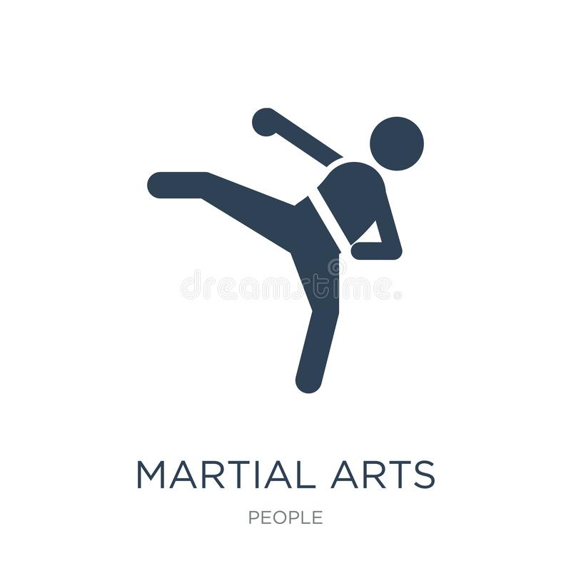 icône d'arts martiaux dans le style à la mode de conception icône d'arts martiaux d'isolement sur le fond blanc icône de vecteur  illustration de vecteur