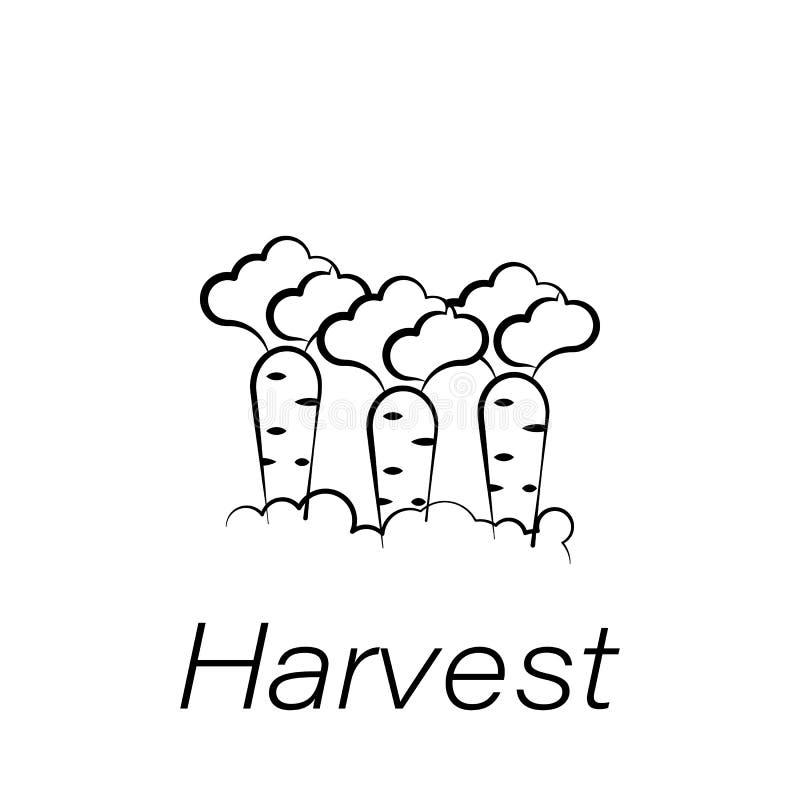 Icône d'aspiration de main de récolte Élément de cultiver des icônes d'illustration Des signes et les symboles peuvent être emplo illustration stock