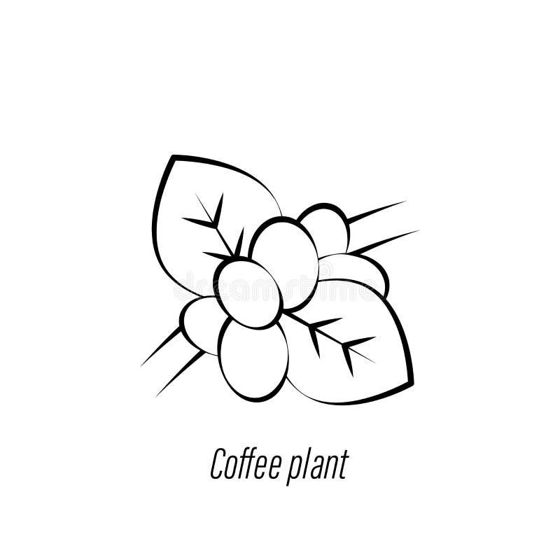 Ic?ne d'aspiration de main d'usine de caf? ?l?ment d'ic?ne d'illustration de caf? Des signes et les symboles peuvent ?tre employ? illustration de vecteur