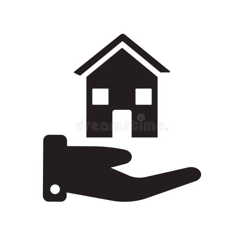 Icône d'assurance de Chambre  illustration stock