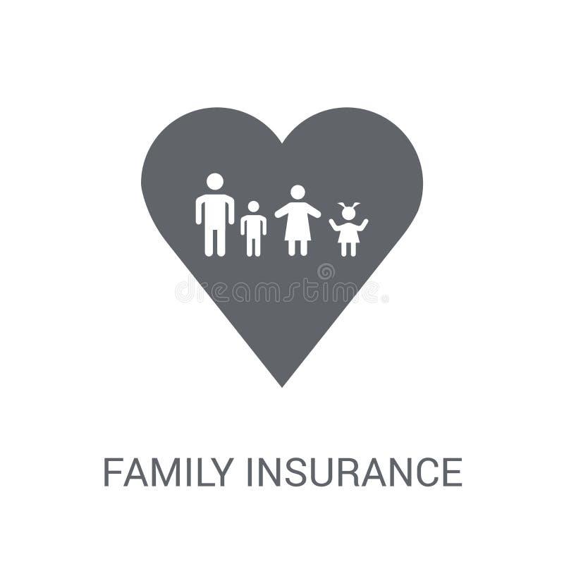 Icône d'assurance de famille  illustration de vecteur