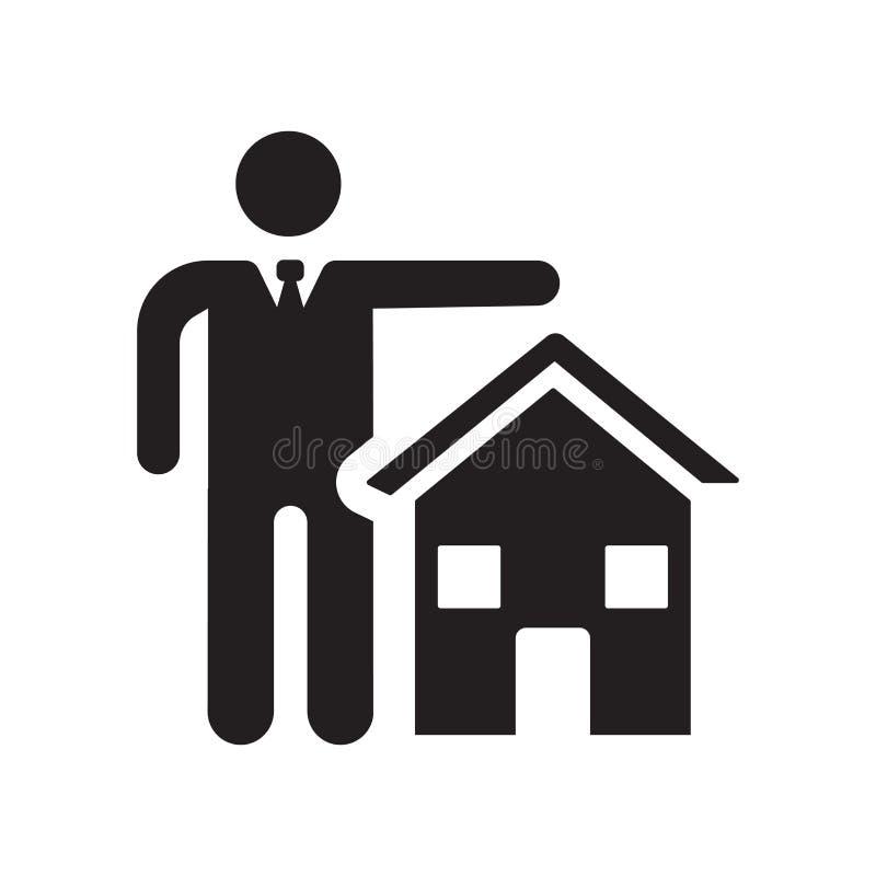 Icône d'assurance d'immobiliers Logo à la mode Co d'assurance d'immobiliers illustration de vecteur