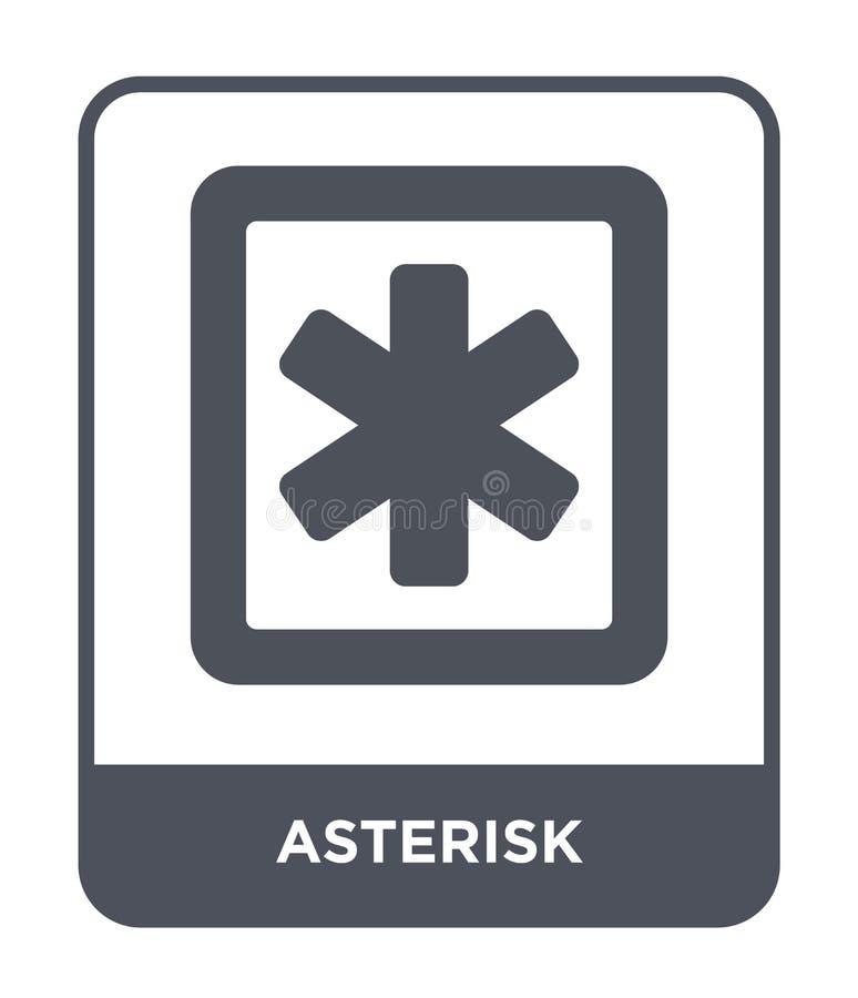 icône d'astérisque dans le style à la mode de conception icône d'astérisque d'isolement sur le fond blanc appartement simple et m illustration stock