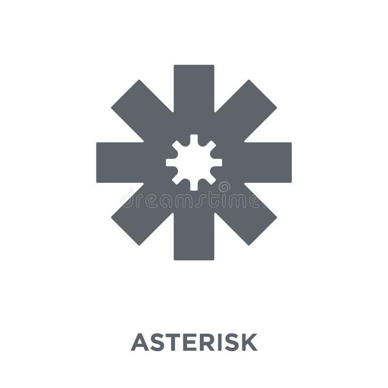 Icône d'astérisque de collection de la géométrie illustration de vecteur