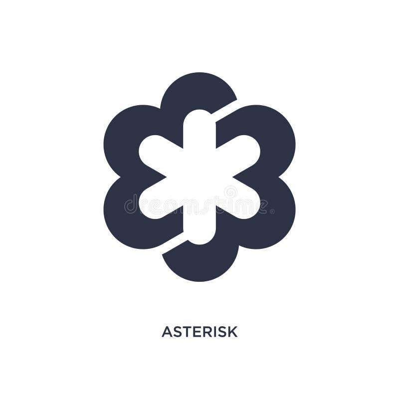 icône d'astérisque sur le fond blanc Illustration simple d'élément de concept de la géométrie illustration stock