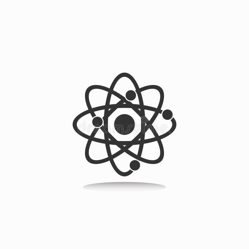 Icône d'atome, molécule, moléculaire, la science illustration de vecteur