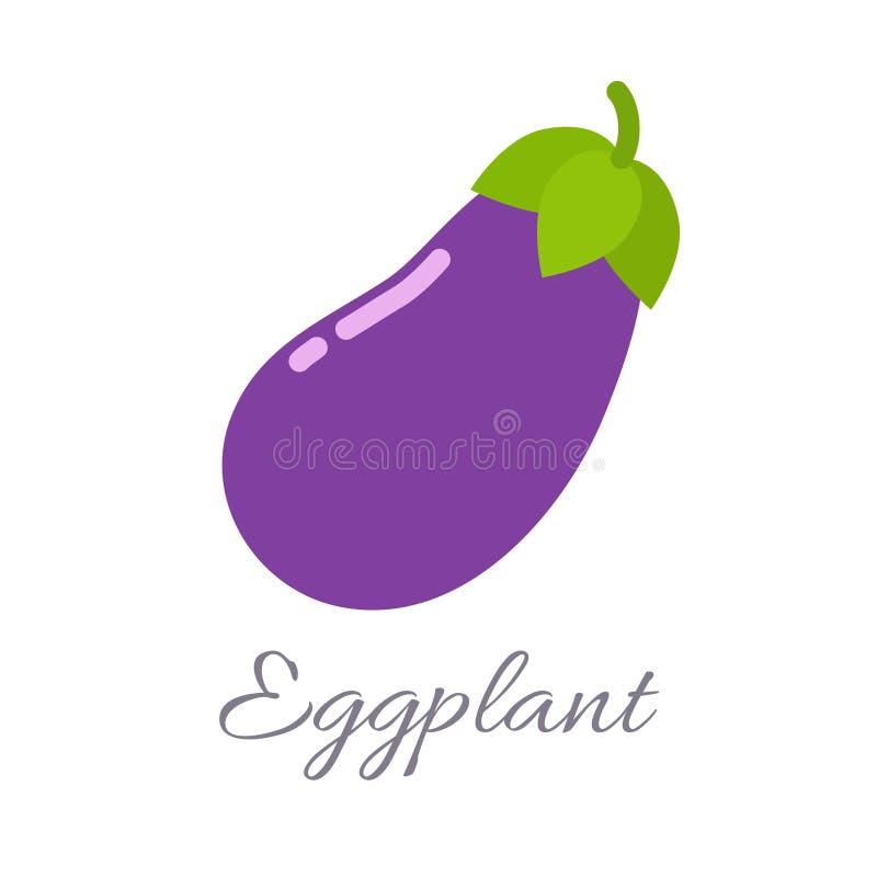 Icône d'aubergine avec le titre illustration libre de droits