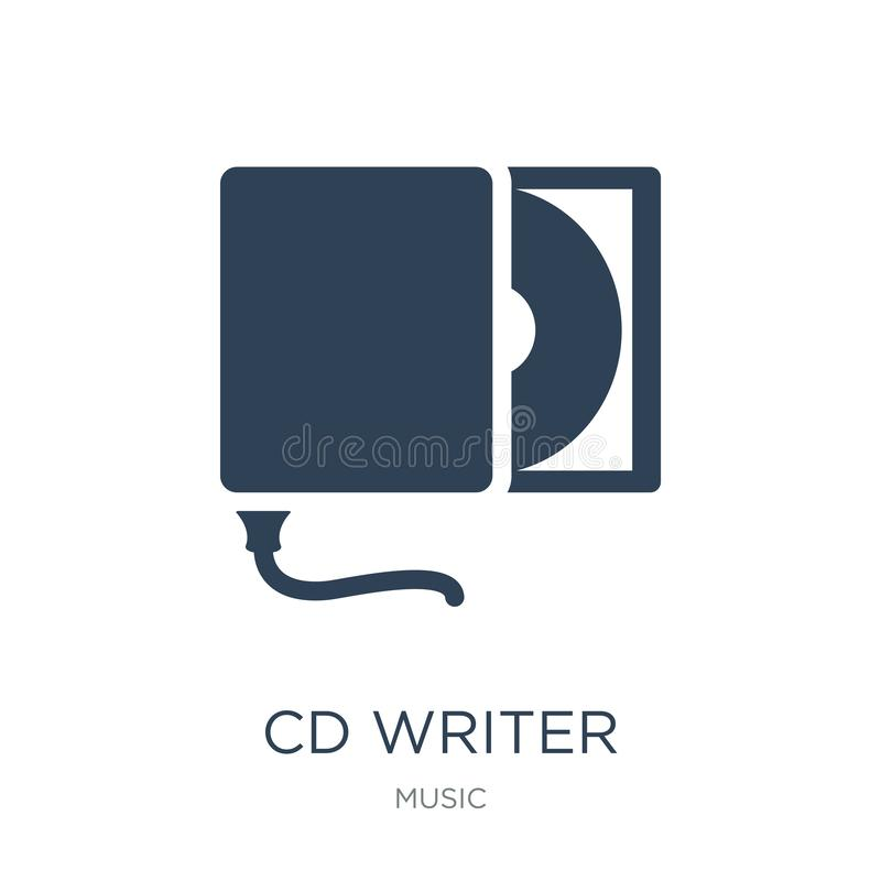 icône d'auteur de Cd dans le style à la mode de conception icône d'auteur de Cd d'isolement sur le fond blanc appartement simple  illustration de vecteur