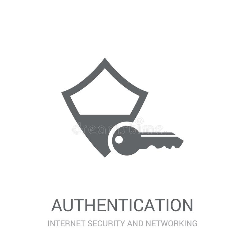 Icône d'authentification  illustration de vecteur