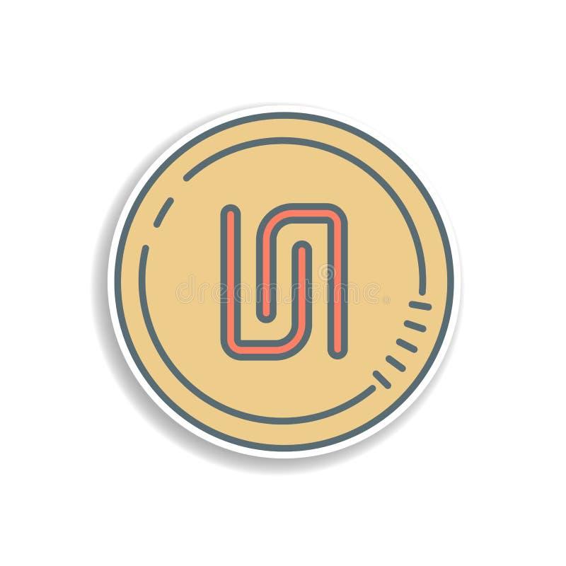 icône d'autocollant de pièce de monnaie de shekel Élément d'icône d'opérations bancaires de couleur Icône de la meilleure qualité illustration libre de droits