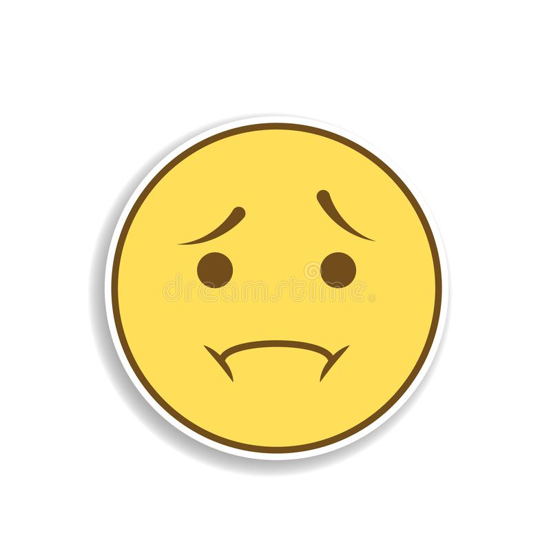 icône d'autocollant d'emoji colorée par déception Élément d'emoji pour l'illustration mobile d'applis de concept et de Web illustration stock