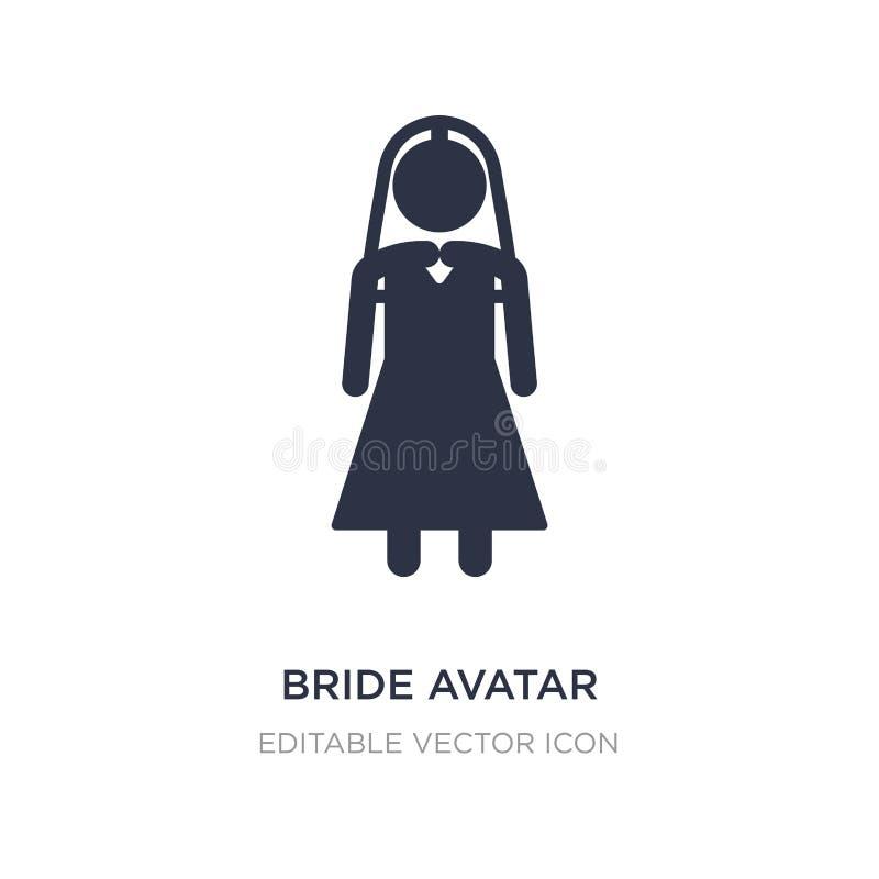 icône d'avatar de jeune mariée sur le fond blanc Illustration simple d'élément de concept de personnes illustration stock