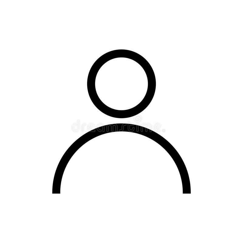 Icône d'avatar Symbole plat d'avatar d'isolement sur le blanc illustration stock
