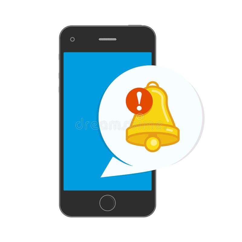 Icône d'avis au téléphone illustration libre de droits