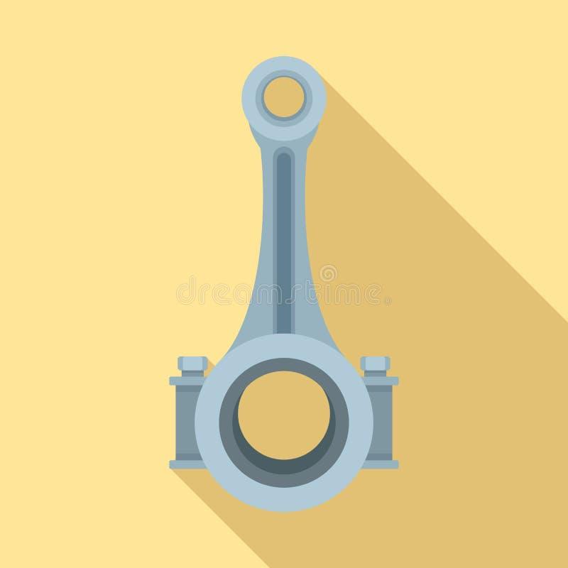 Icône d'axe de bielle de piston, style plat illustration libre de droits