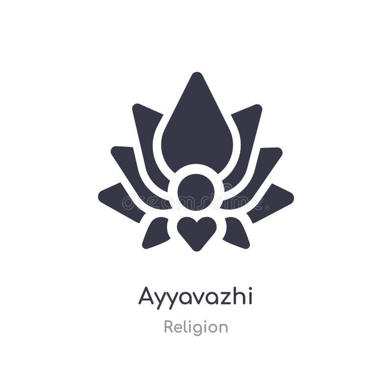icône d'ayyavazhi illustration d'isolement de vecteur d'icône d'ayyavazhi de collection de religion editable chantez le symbole p illustration stock