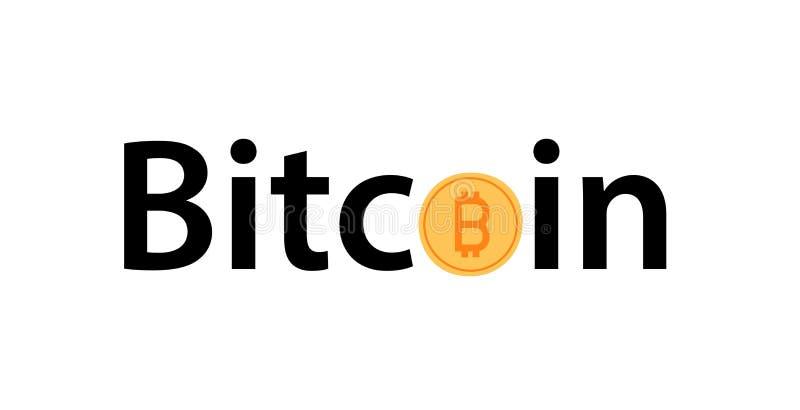 Icône d'or de Bitcoin d'isolement sur le fond blanc illustration stock