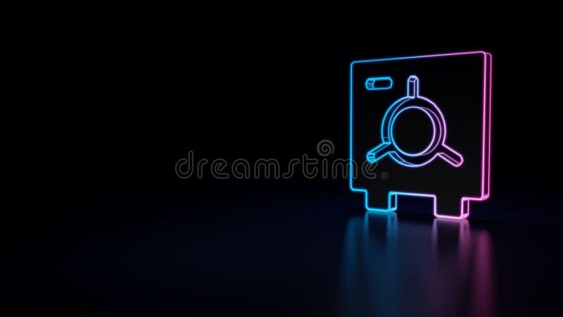 icône 3d de compartiment de coffre-fort illustration de vecteur