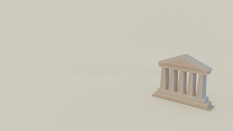 icône 3d de parthenon illustration libre de droits