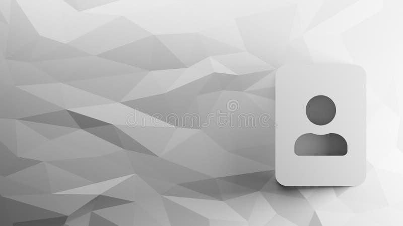 icône 3d de portrait illustration libre de droits