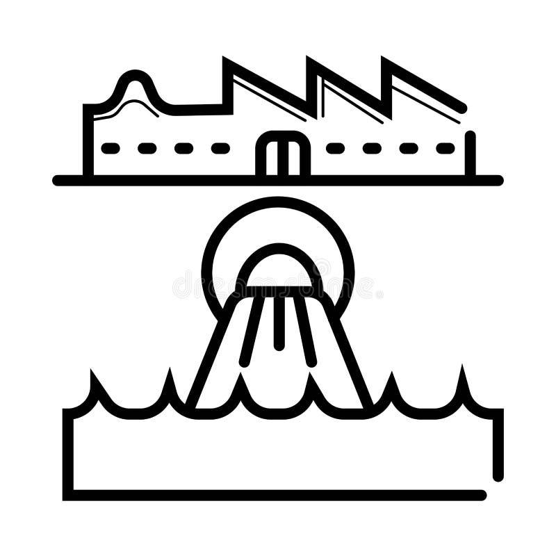 Icône d'eaux usées illustration de vecteur