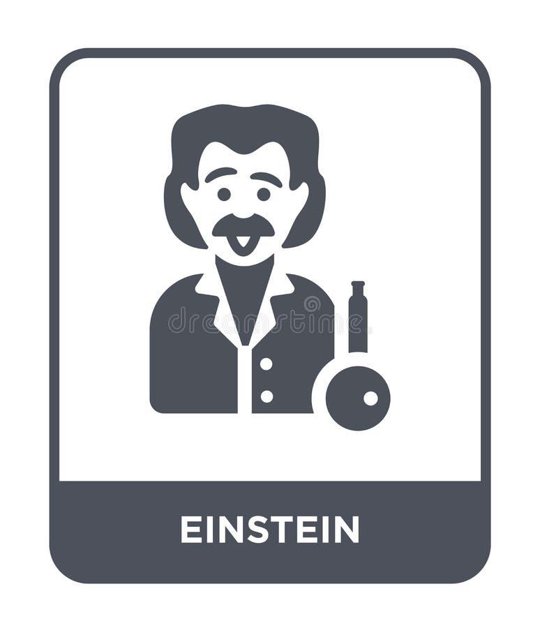 icône d'einstein dans le style à la mode de conception icône d'einstein d'isolement sur le fond blanc appartement simple et moder illustration de vecteur