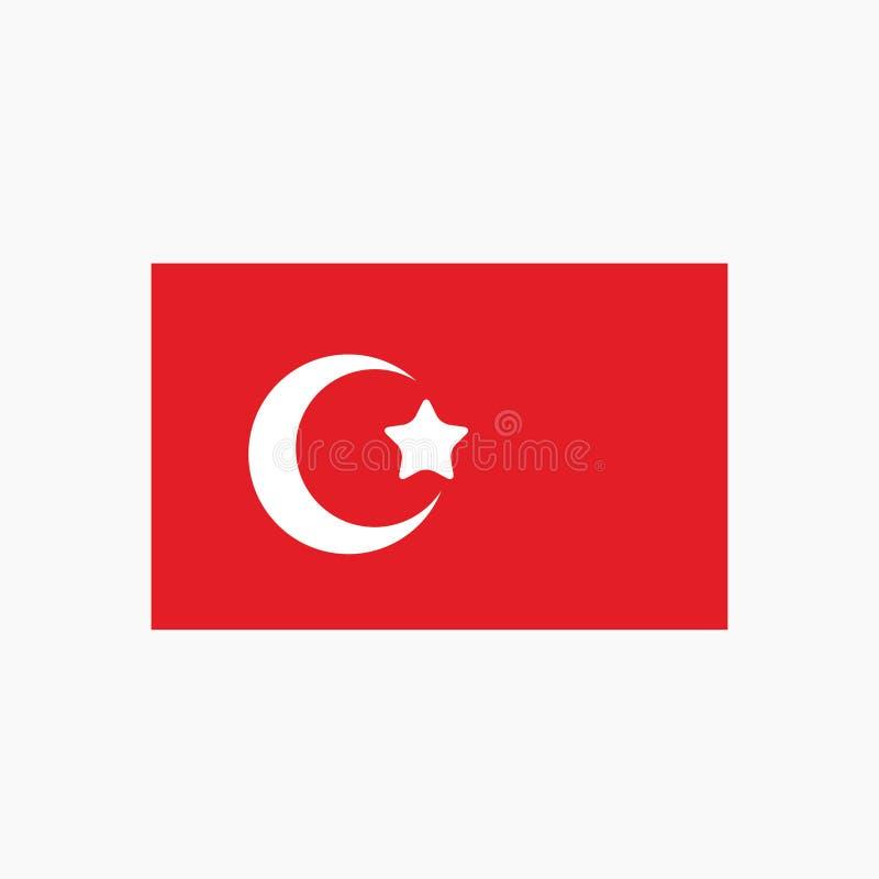 Icône d'emblème de pays d'ensemble de drapeau national de la Turquie illustration stock