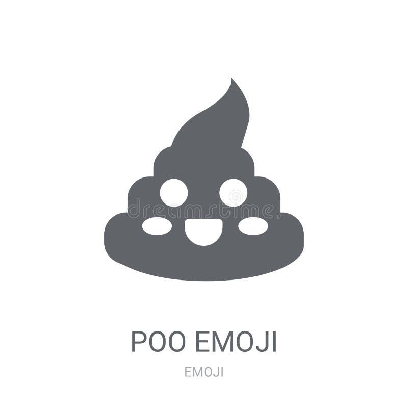 Icône d'emoji de Poo  illustration stock