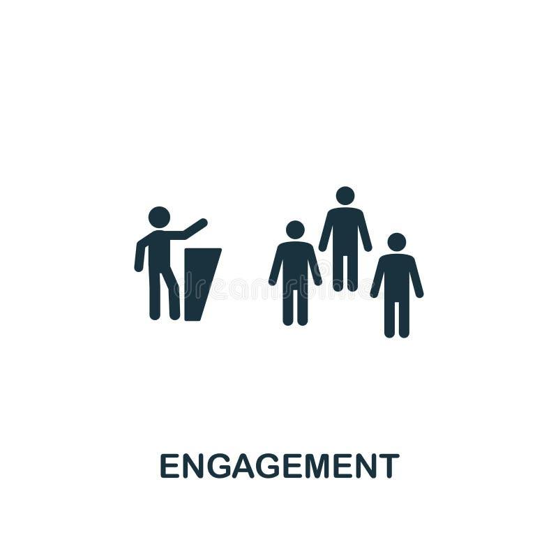 Icône d'engagement Conception créative d'élément de la collection satisfaite d'icônes E illustration stock
