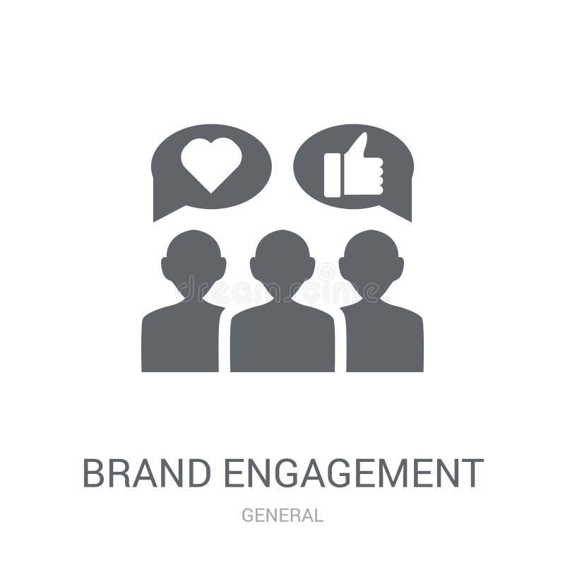 icône d'engagement de marque  illustration de vecteur