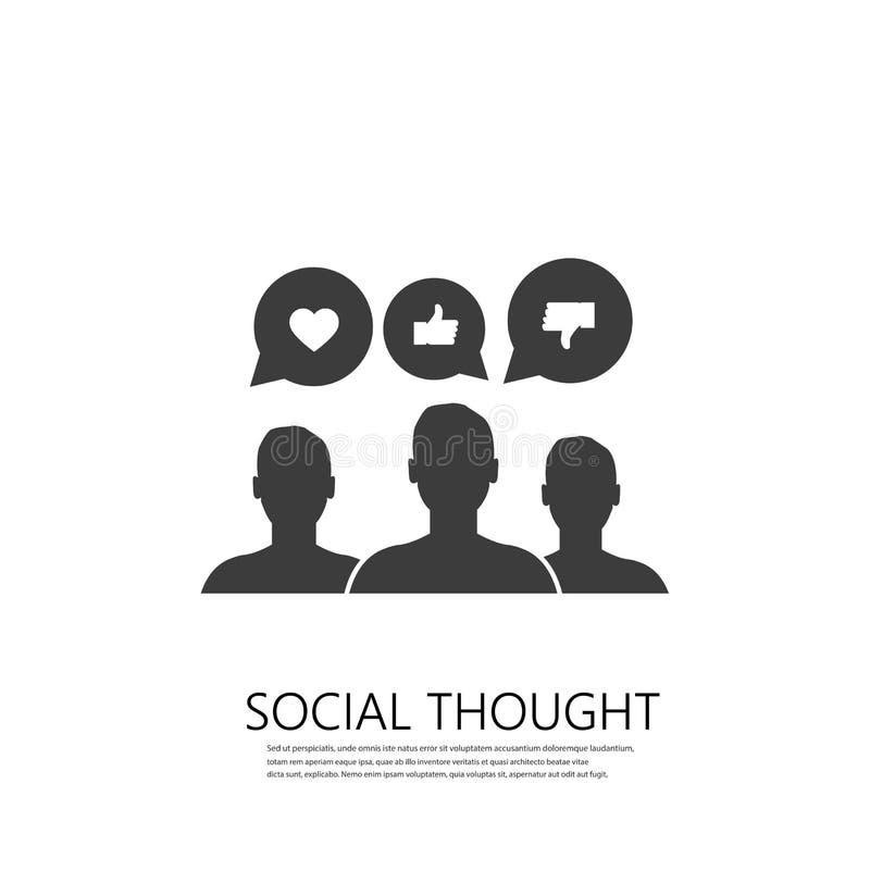 Icône d'engagement de marque du marketing social de médias Graphisme de vecteur illustration stock