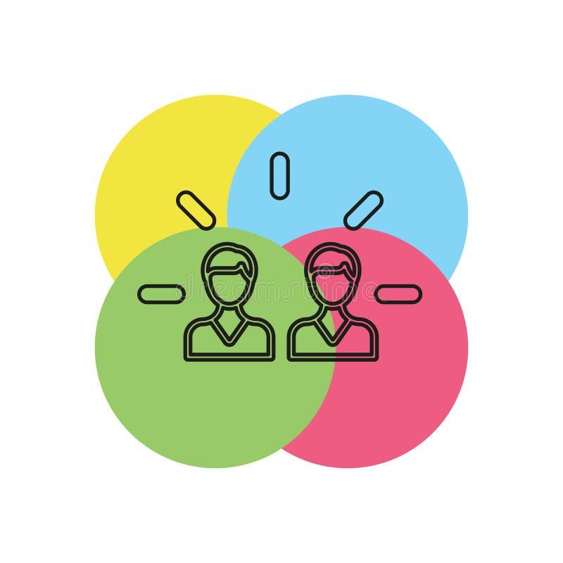 icône d'engagement de marque illustration d'élément illustration libre de droits