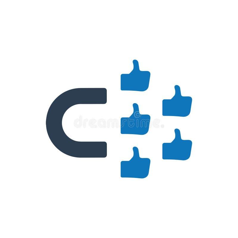 Icône d'engagement social illustration de vecteur