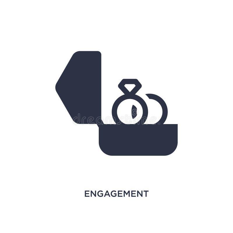icône d'engagement sur le fond blanc Illustration simple d'élément de concept de bijoux illustration stock