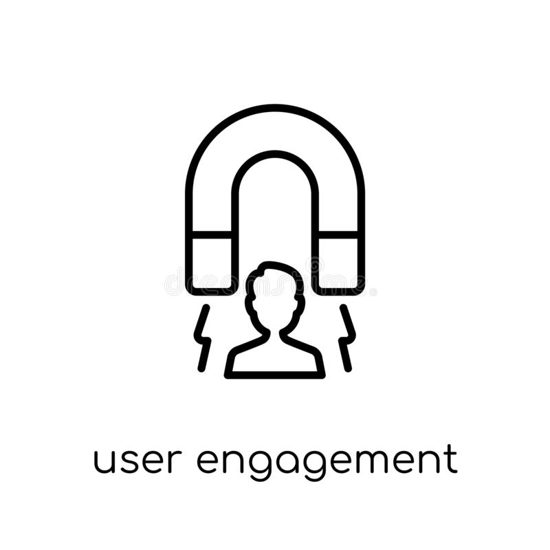 icône d'engagement d'utilisateur Enga linéaire plat moderne à la mode d'utilisateur de vecteur illustration de vecteur