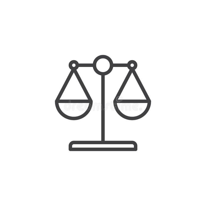 Icône d'ensemble d'échelle de loi illustration libre de droits