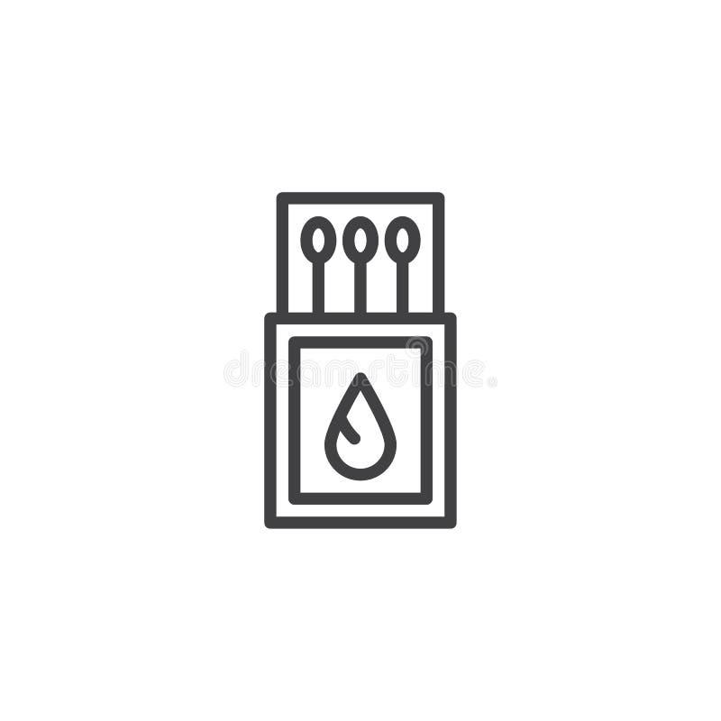Icône d'ensemble d'allumettes illustration de vecteur