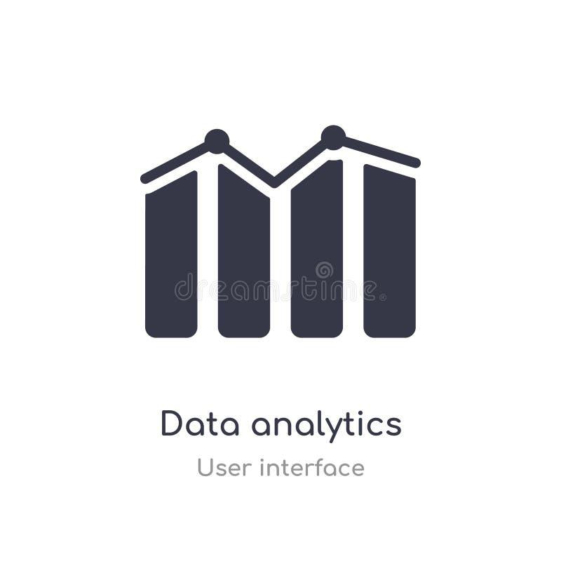 icône d'ensemble d'analytics de données ligne d'isolement illustration de vecteur de collection d'interface utilisateurs analytic illustration stock