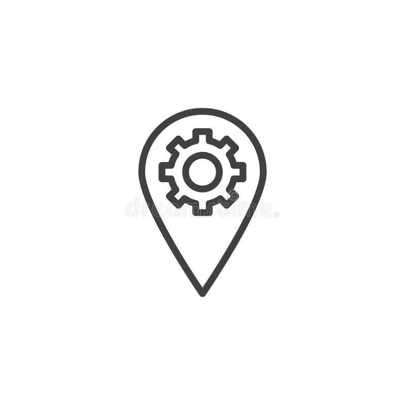 Icône d'ensemble d'arrangement d'emplacement de Pin illustration libre de droits