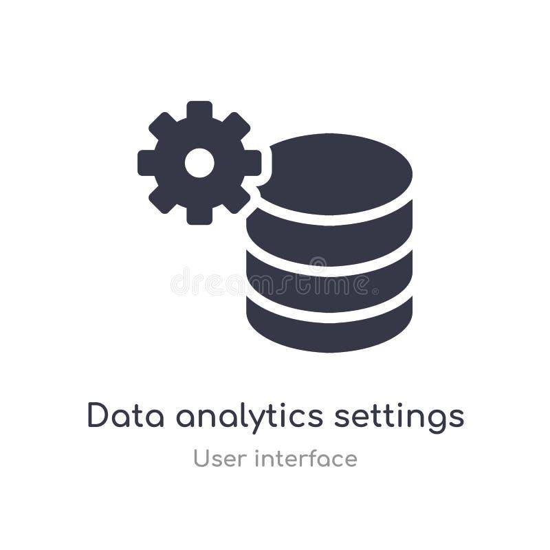 icône d'ensemble d'arrangements d'analytics de données ligne d'isolement illustration de vecteur de collection d'interface utilis illustration libre de droits