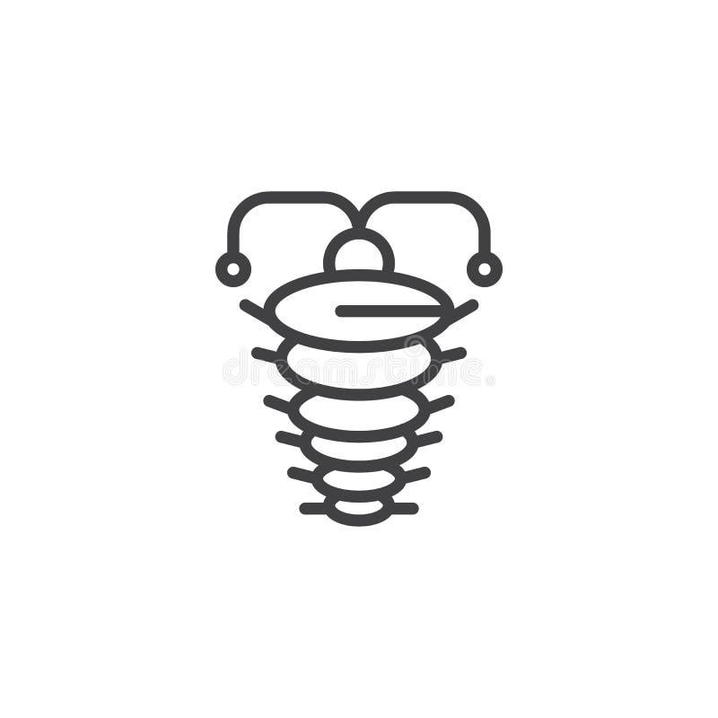 Icône d'ensemble d'arthropode illustration stock
