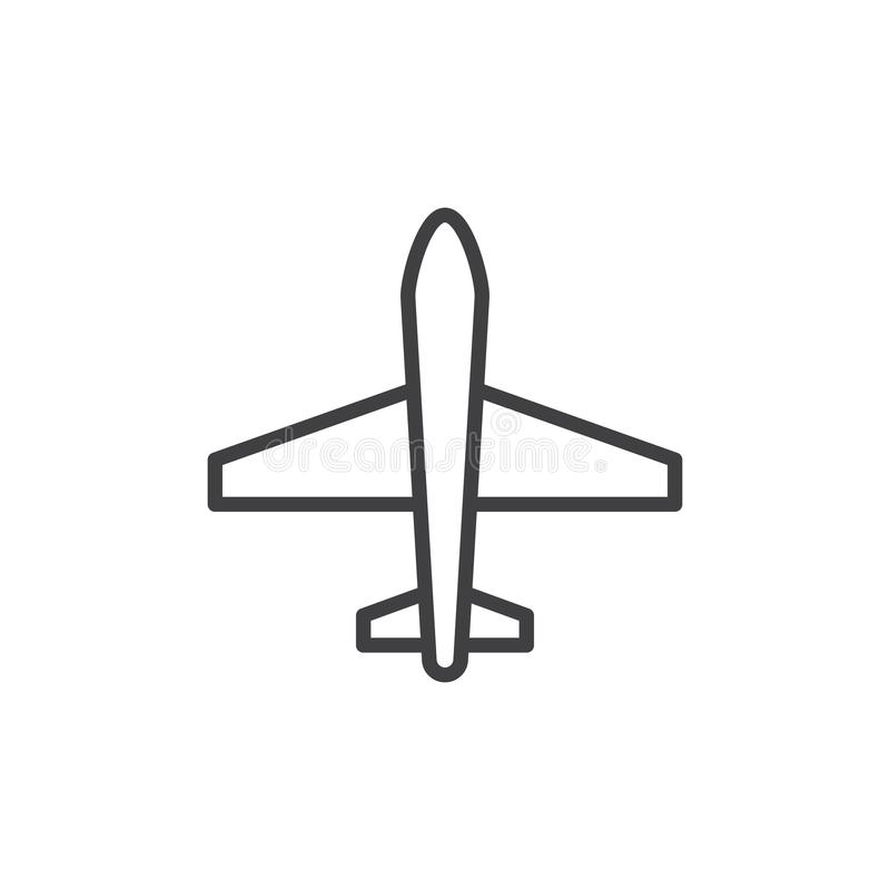 Icône d'ensemble d'avion illustration libre de droits