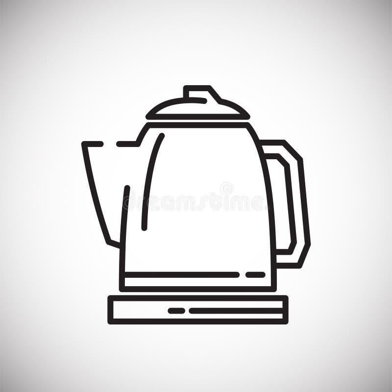 Icône d'ensemble de bouilloire sur le fond blanc pour le graphique et la conception web, signe simple moderne de vecteur Internet illustration stock