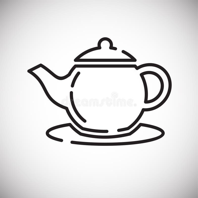 Icône d'ensemble de bouilloire sur le fond blanc pour le graphique et la conception web, signe simple moderne de vecteur Internet illustration de vecteur