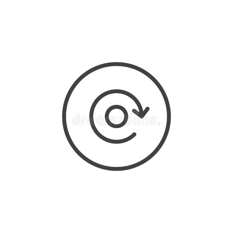 Icône d'ensemble de bouton de rejeu illustration stock
