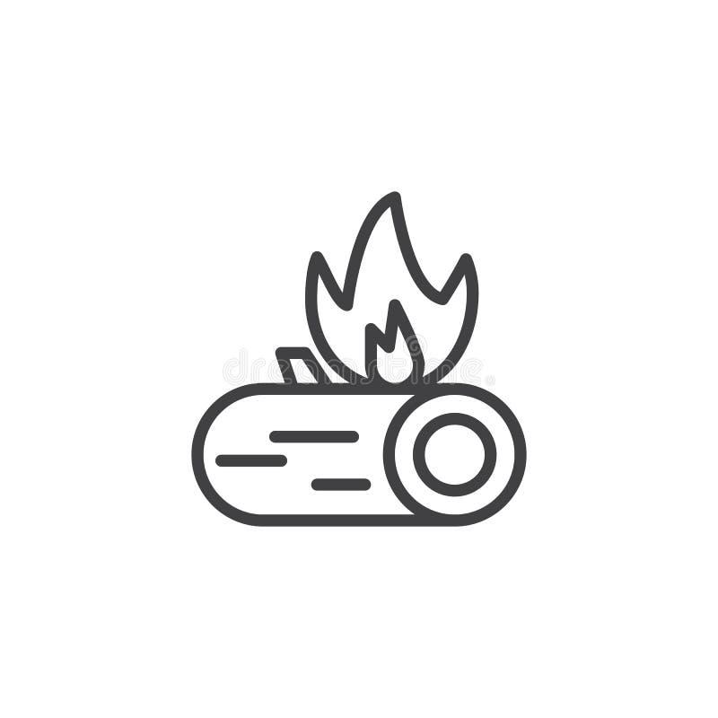 Icône d'ensemble de brûlure de feu illustration de vecteur