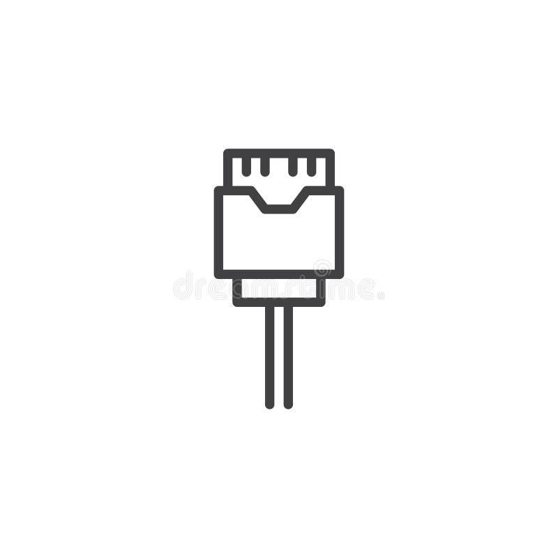 Icône d'ensemble de câblage téléphonique illustration libre de droits